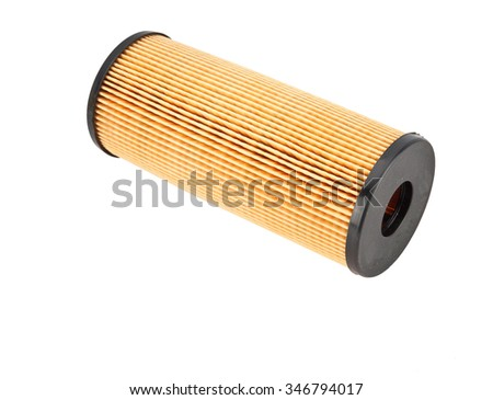 car air filter on white background - stock photo