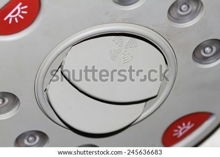 Car air vent - stock photo