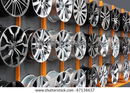 car aluminum wheel rim - stock photo