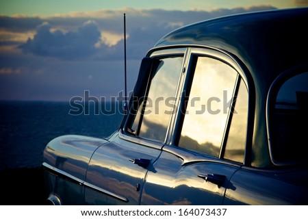 Car at Beach - stock photo