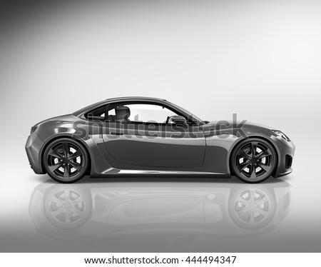 Car Automobile Speed Land Transportation Concept - stock photo