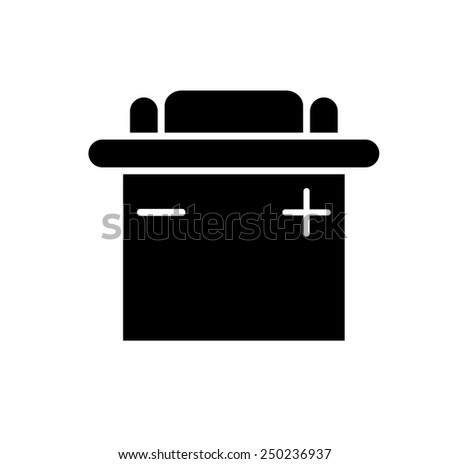 Car Battery Icon - stock photo