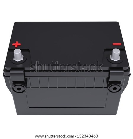Car battery. Isolated render on a white background - stock photo