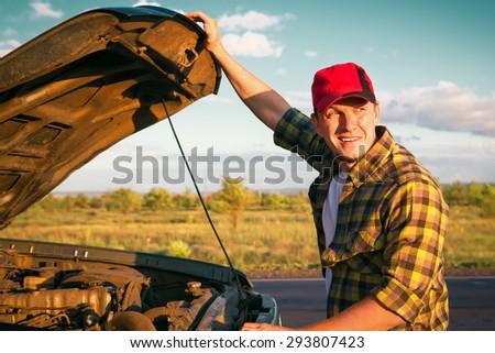 car breakdown - stock photo