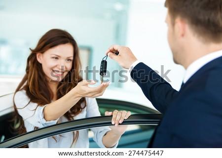 Car, Car Dealership, New. - stock photo