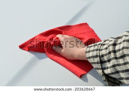 Car care - Car polishing - stock photo