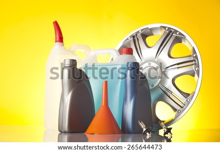 car care products - stock photo