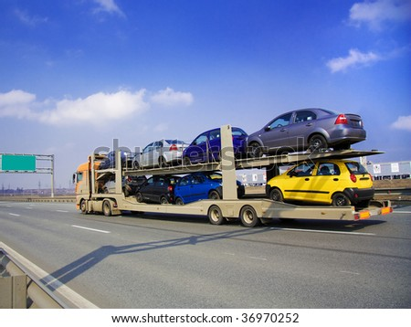 car carrier - stock photo