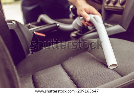 Car cleaning - stock photo