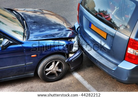 Car collision. - stock photo
