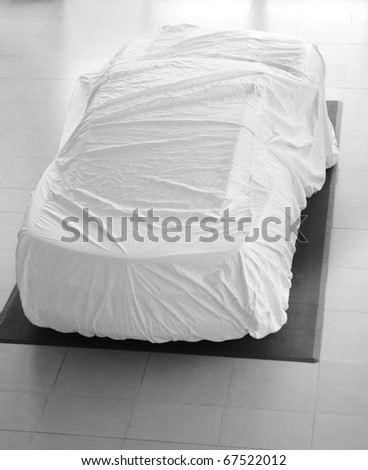 Car cover. - stock photo