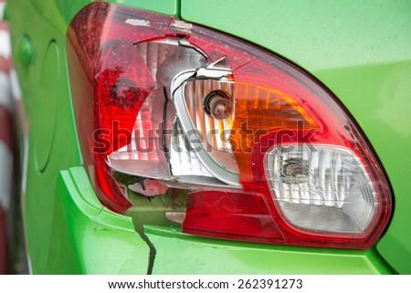 Car crash, Broken  the rear lights. - stock photo