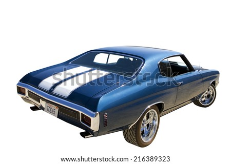 Car, cut out - stock photo