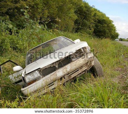Car damage - stock photo