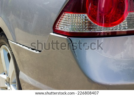 Car damaged - stock photo