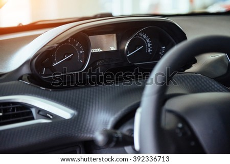 Car Dashboard. - stock photo