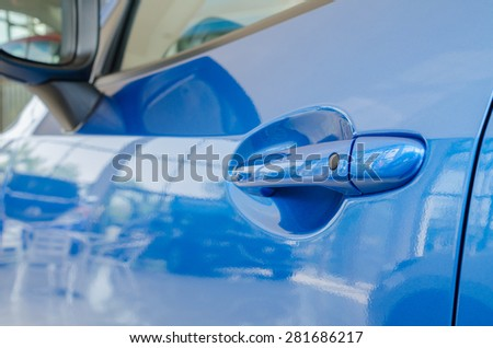 car door handle and technology - stock photo