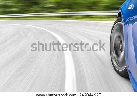 Car driving - stock photo