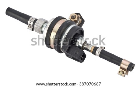 car Driving shaft isolated on white background. new spare part - stock photo