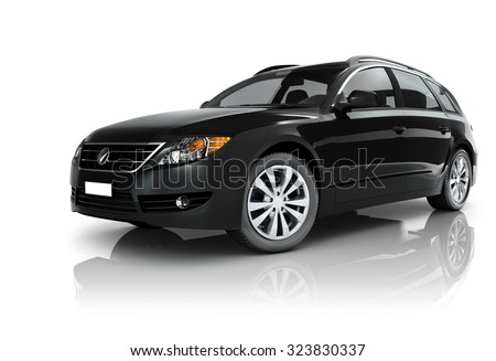 Car Elegance Vehicle Transportation Luxury Performance Concept - stock photo