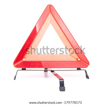 Car emergency sign isolated on white background - stock photo