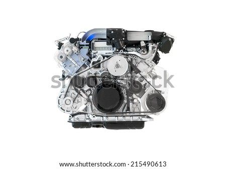 Car engine cutaway - stock photo
