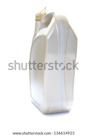 car engine oil isolated on white background - stock photo