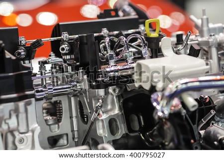Car engine part. - stock photo
