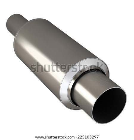 Car Exhaust Pipe isolated on white background. High resolution  - stock photo