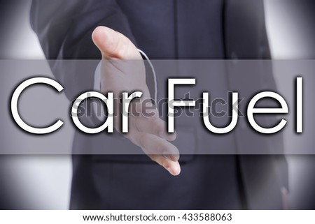 Car Fuel - business concept with text - horizontal image - stock photo
