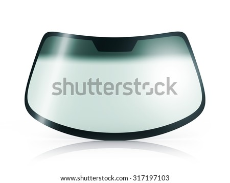 Car glass on white background (done in 3d) - stock photo