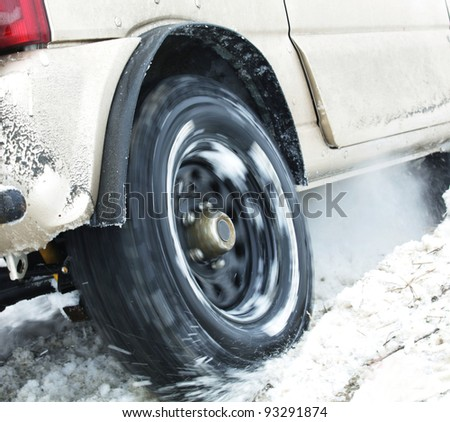 car got stuck - stock photo