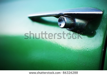 Car handle vintage style - stock photo