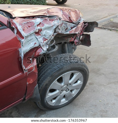 Car hard accident - stock photo