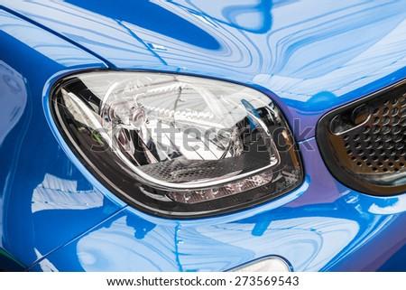 Car Headlight Closeup - stock photo