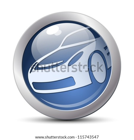 Car icon - stock photo