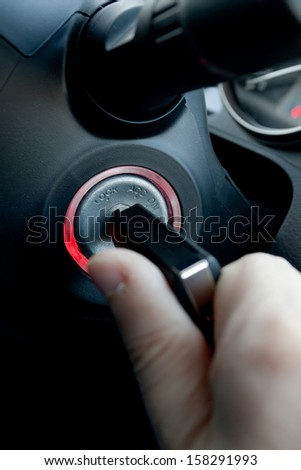 Car ignition key - stock photo