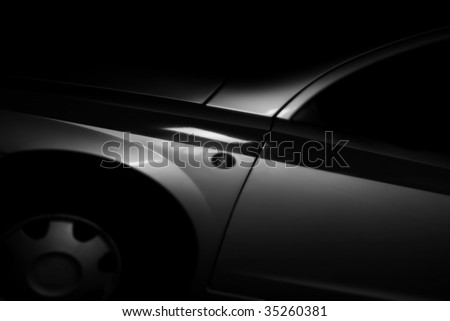 Car in darkness - stock photo