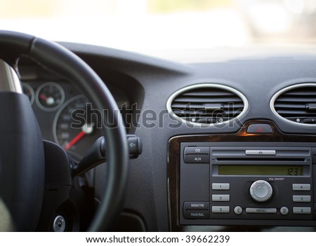 Car interior - stock photo