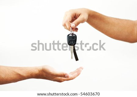 Car-key exchange - stock photo