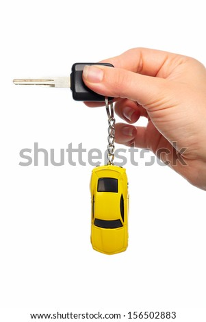 Car keys. Auto dealership and rental concept background. - stock photo