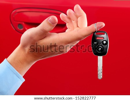 Car keys. Auto dealership concept. - stock photo