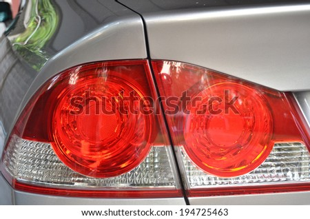 car lamp or tail lights. - stock photo