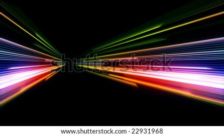 car lights blur - stock photo
