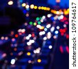 Car lights on the road, colorful light. - stock photo