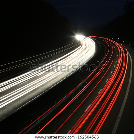car lights - square background - stock photo