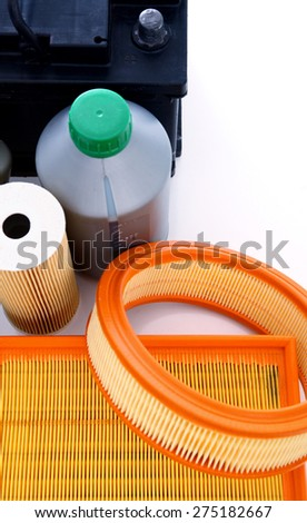 Car maintenance tools - stock photo