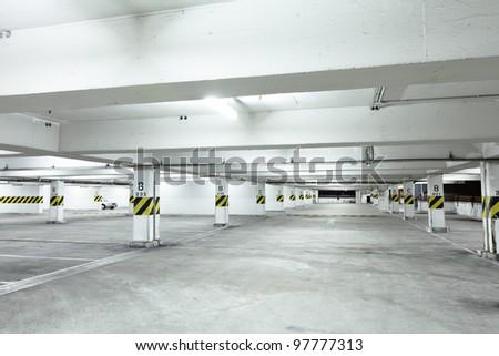 Car park - stock photo