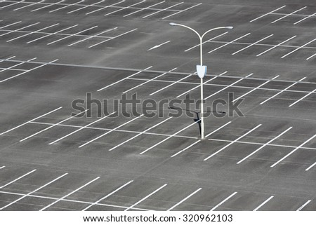 Car parking lot with white mark - stock photo
