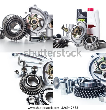 Car parts collage - stock photo